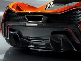 McLaren P1 diffuseur downshift