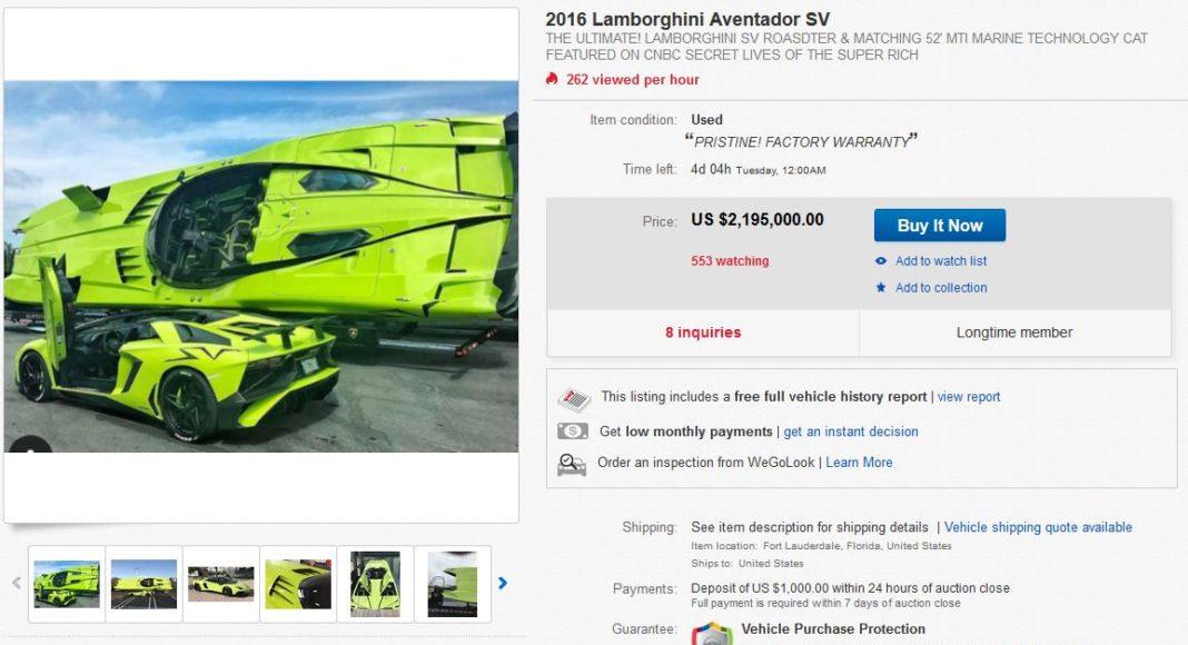 Annonce Ebay Lamborghini Aventador SV