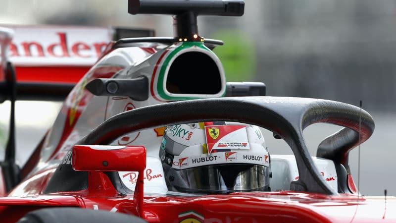 Test du HALO team Ferrari FIA