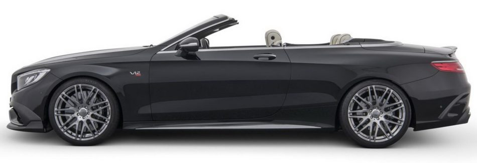 Mercedes S65 Cabriolet Brabus Rocket 900 coté