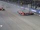 Départ et crash lors du Grand Prix de Singapour 2017