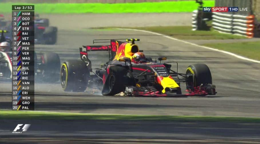 Grand Prix d'Italie 2017 - Verstappen pneu crevé