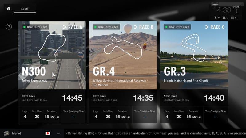Mode Sport - Gran Turismo Sport