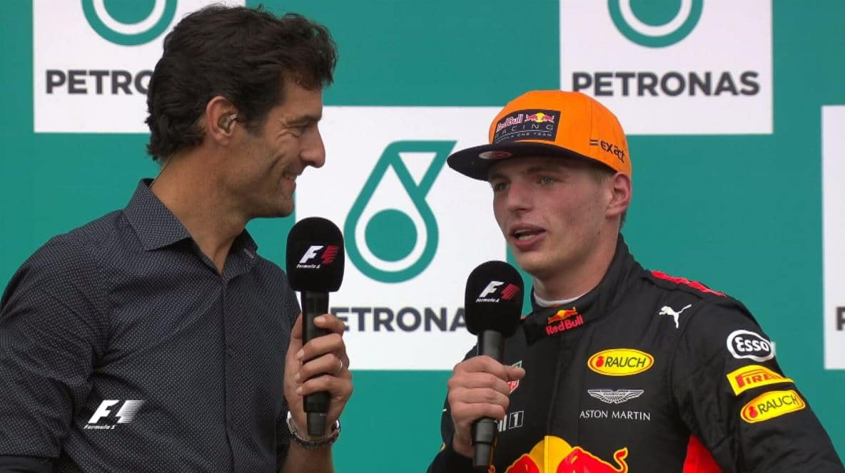 Victoire de Max Verstappen au Grand Prix de Malaisie 2017