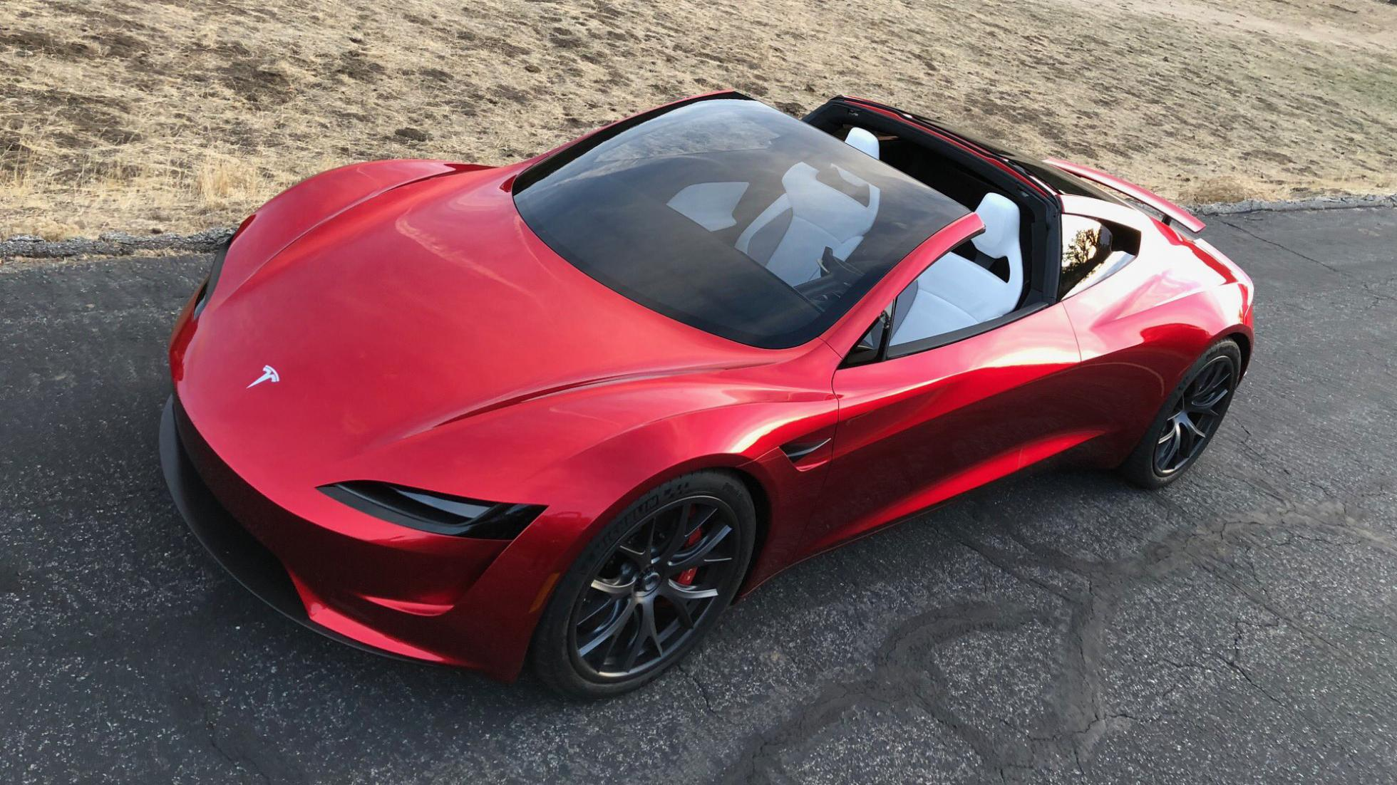 vid o tesla roadster elon musk annonce 1 9 seconde au 0 60 mph. Black Bedroom Furniture Sets. Home Design Ideas