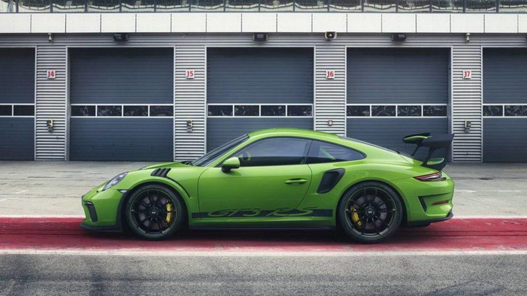 La nouvelle Porsche 911 GT3 RS de profil