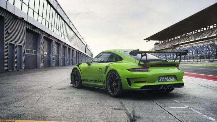 Arrière de la nouvelle Porsche 911 GT3 RS