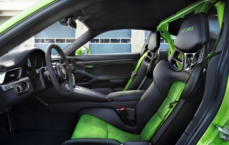 Intérieur de la nouvelle Porsche 911 GT3 RS
