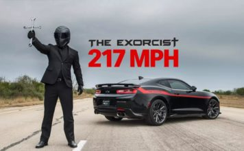 Hennessey Exorcist, video d'une Camaro de 1000 chevaux qui atteint les 350 kmh