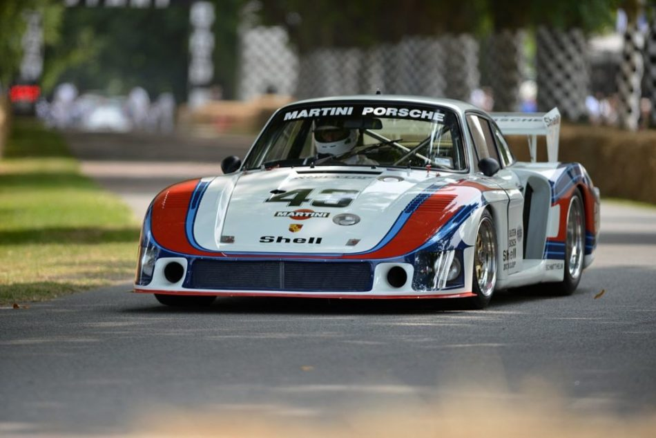 Goodwood Festival of Speed : hill climb Porsche Martini