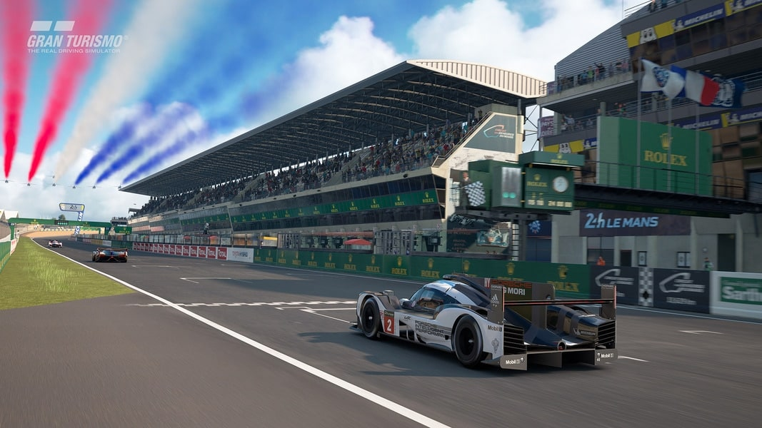 le circuit des 24 heures du mans d barque sur gt sport maj. Black Bedroom Furniture Sets. Home Design Ideas