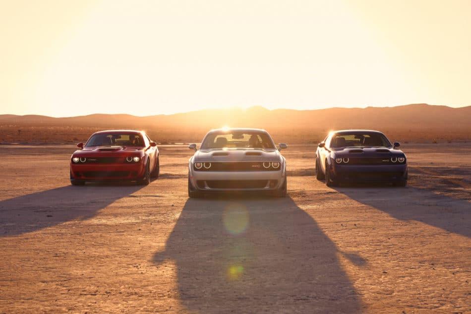 Trois Challenger Hellcat Redeye