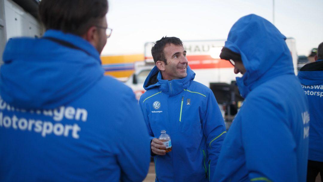 Romain Dumas, pilote de la Volkswagen ID-R, à Pikes Peak