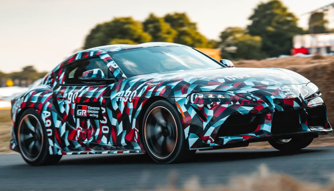 Nouvelle Toyota Supra à Goodwood