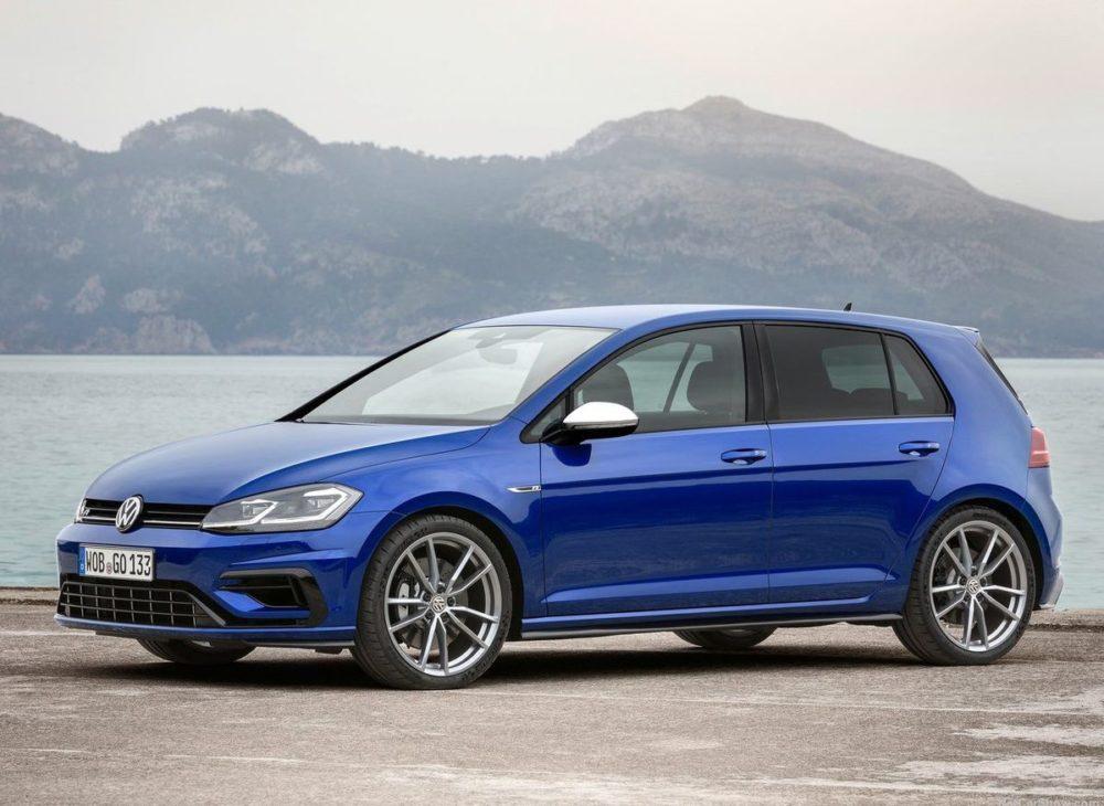 Volkswagen Golf R facelift bleu