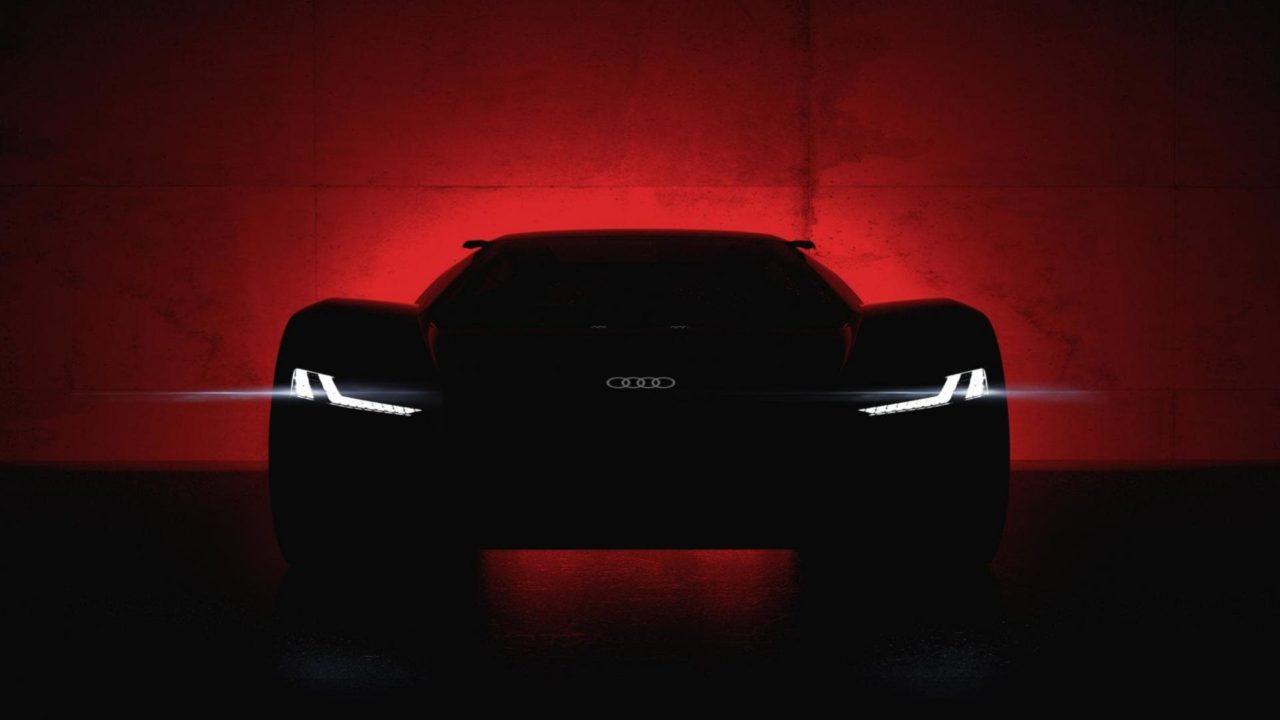 Face avant de l'Audi PB 18 e-tron