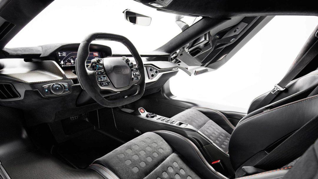 Intérieur de la Ford GT Heritage Edition