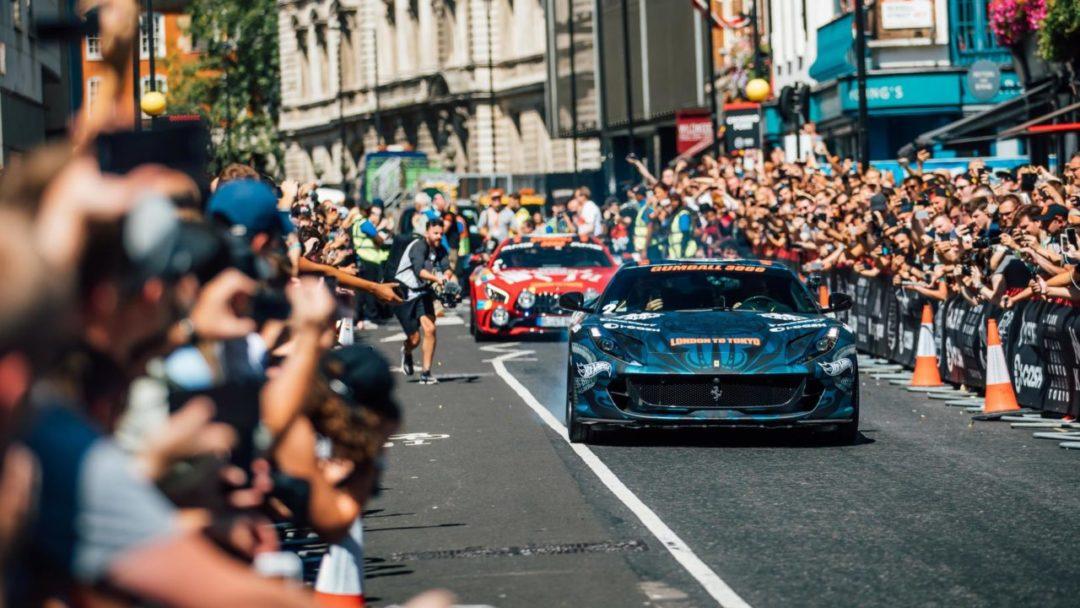 Gumball 3000 (2018) - Depart du rallye de Londres