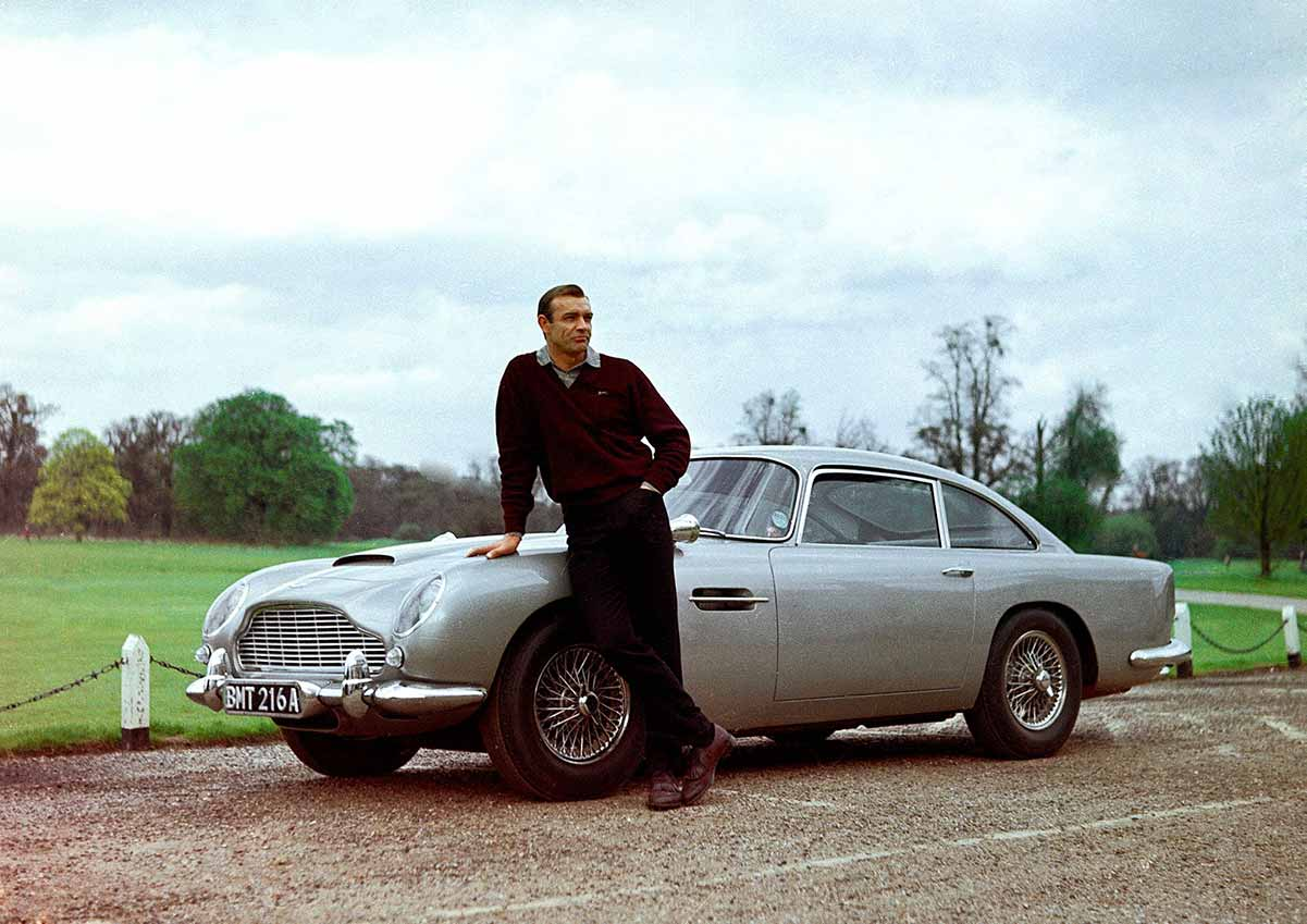 Sean Connery et sa DB5