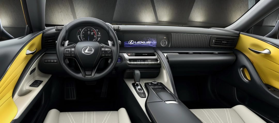 Intérieur Lexus LC Yellow Edition