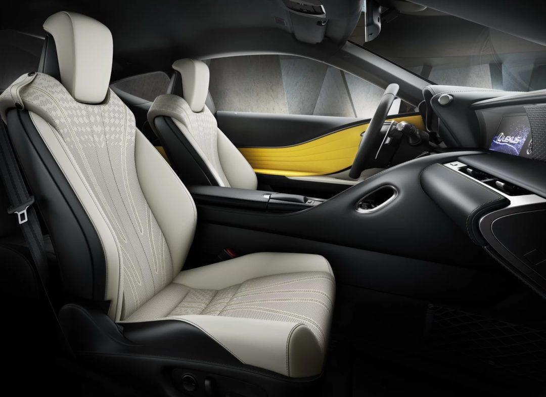 Sieges Intérieur Lexus LC Yellow Edition