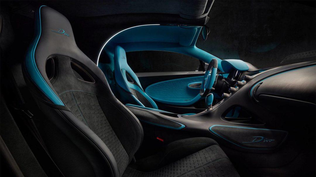 Intérieur passager Bugatti Divo