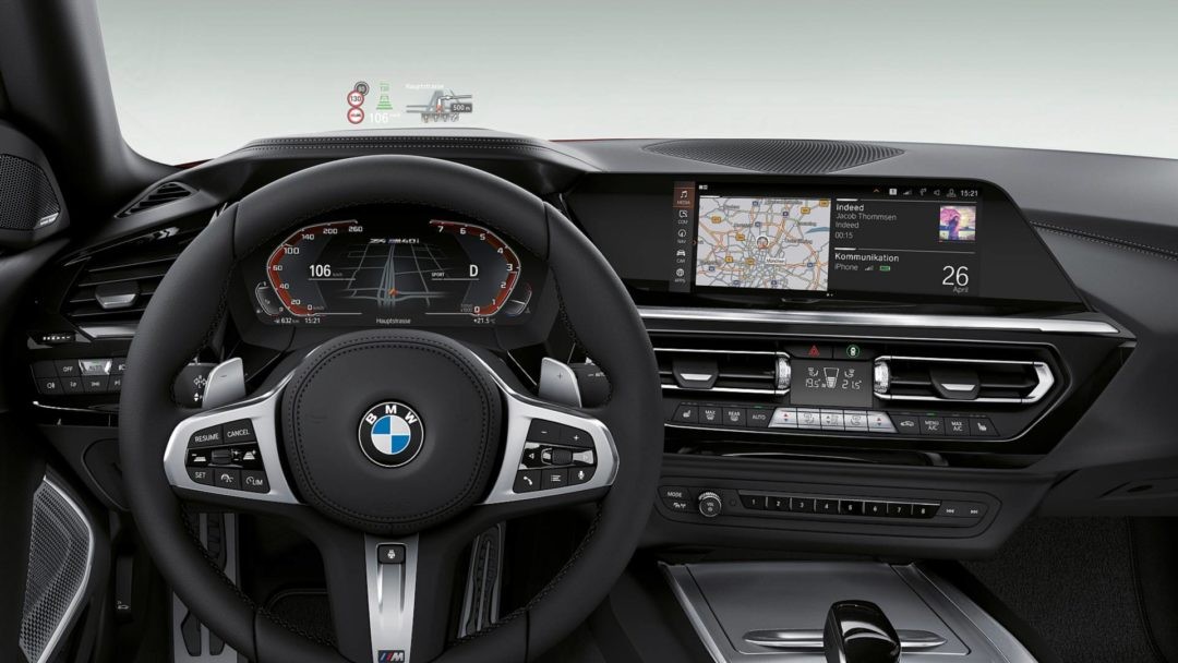 Intérieur de la nouvelle BMW Z4 (2019)