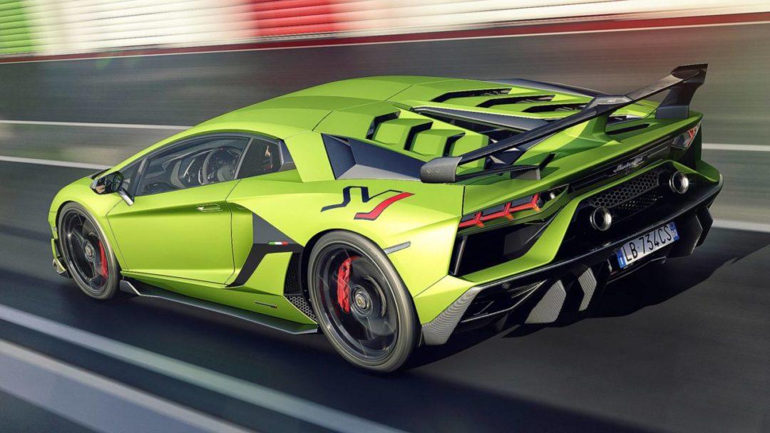 Lamborghini Aventador SVJ arrière circuit