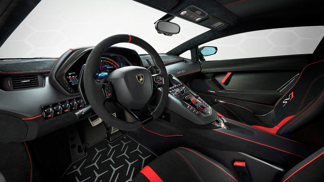 Interieur Lamborghini Aventador SVJ