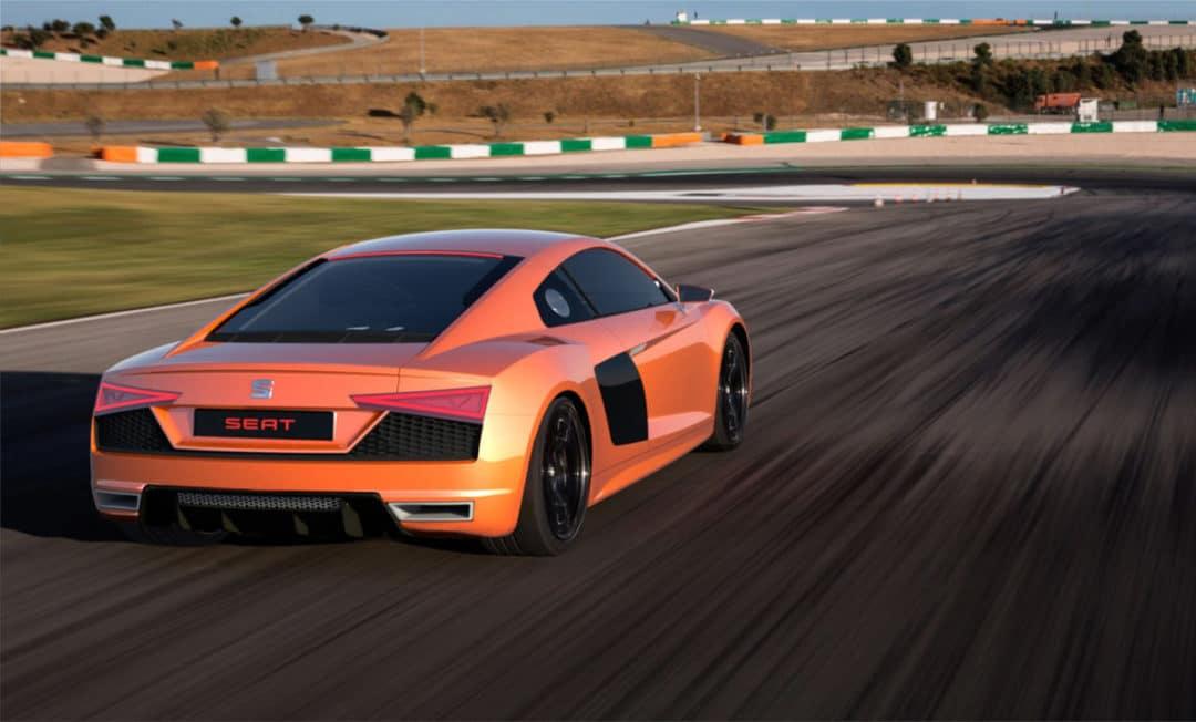 Arrière de la Seat Audi R8