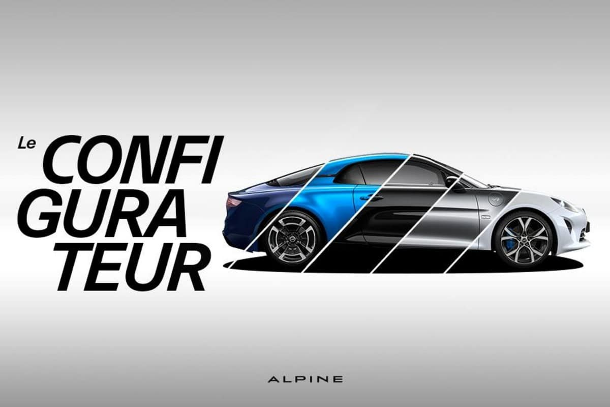 Configurateur en ligne Alpine A110