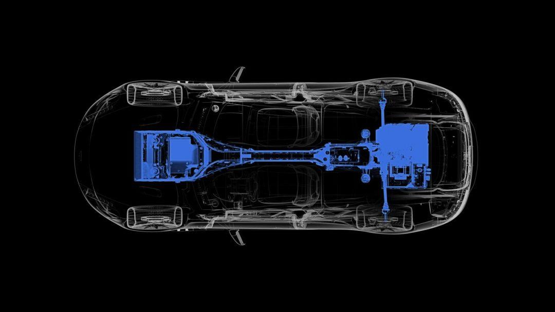 Batteries et moteurs de l'Aston Martin Rapide E