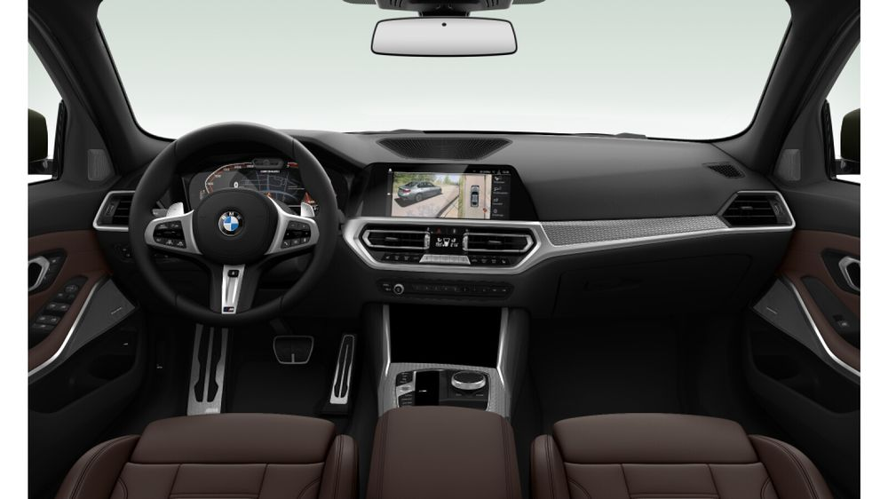Intérieur de la nouvelle BMW Série 3 (2019) visible au Mondial de l'Auto