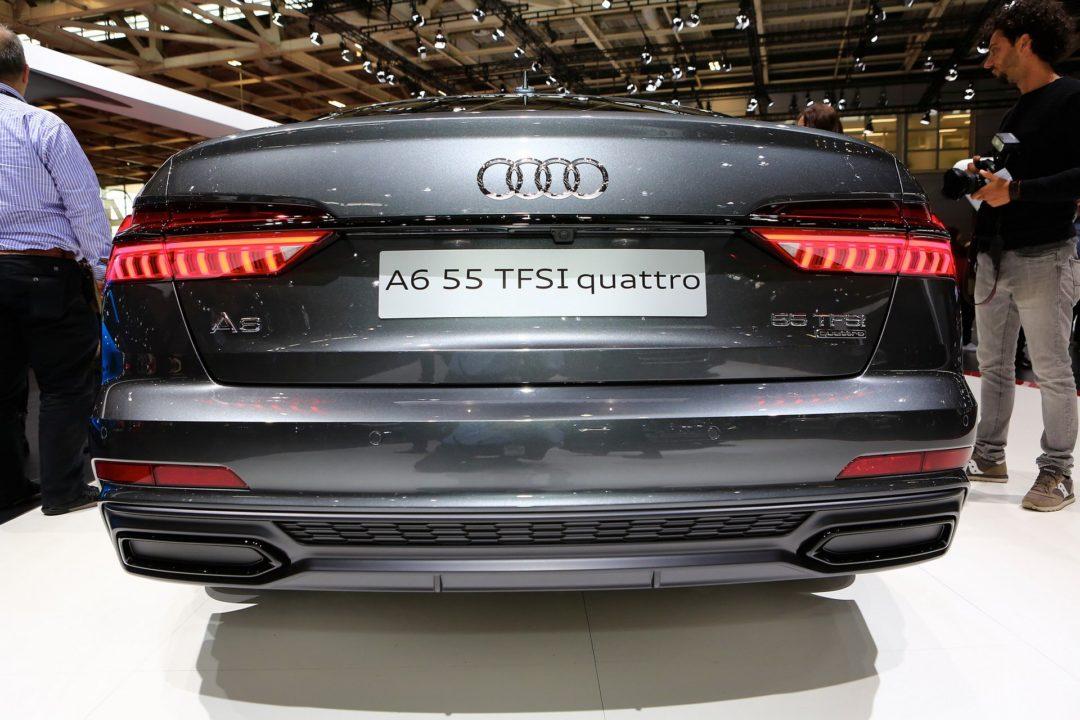 Audi A6 fausses sorties d'échappements Mondial de l'Auto Paris (2)
