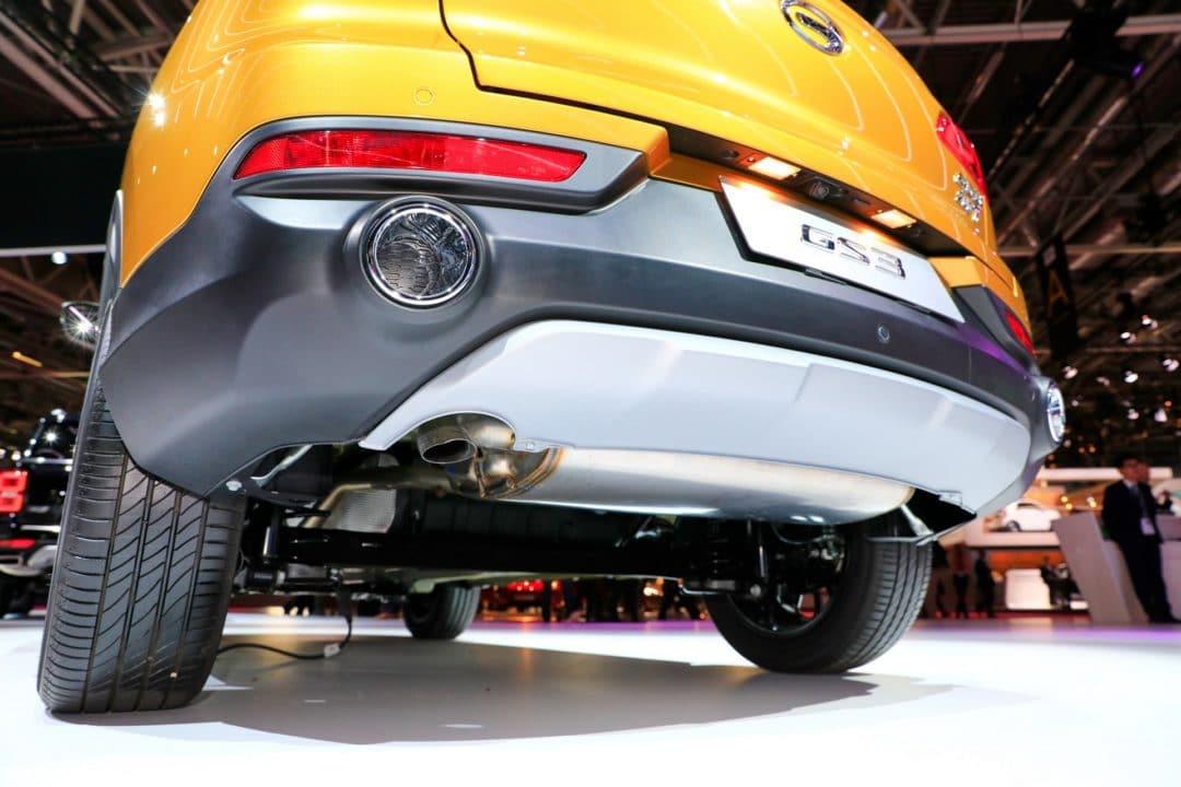 gs3 gca fausses sorties d'échappements Mondial de l'Auto Paris