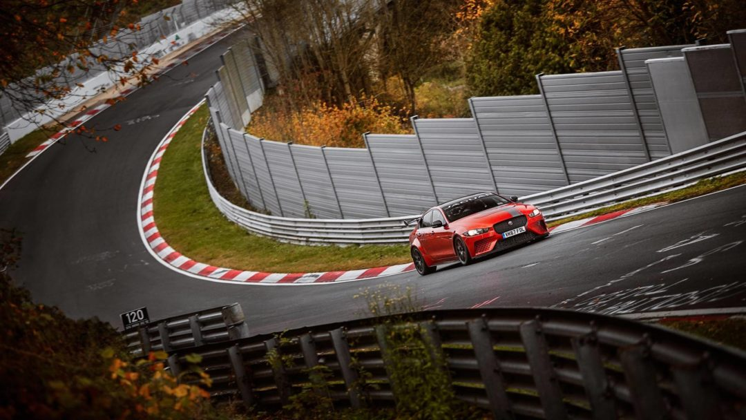 Jaguar XE Project 8 sur le Nürburgring