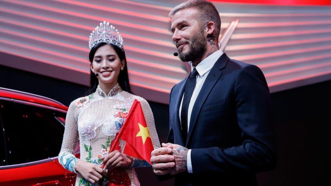 Vinfast : David Beckham et Miss Vietnam