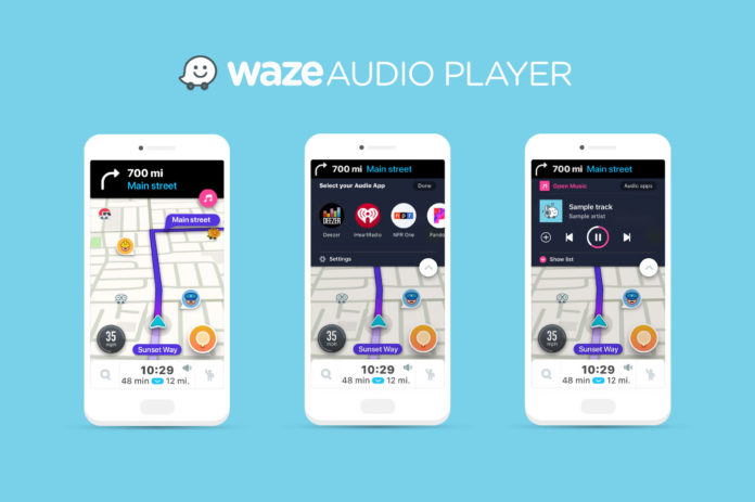 Waze Audio Player