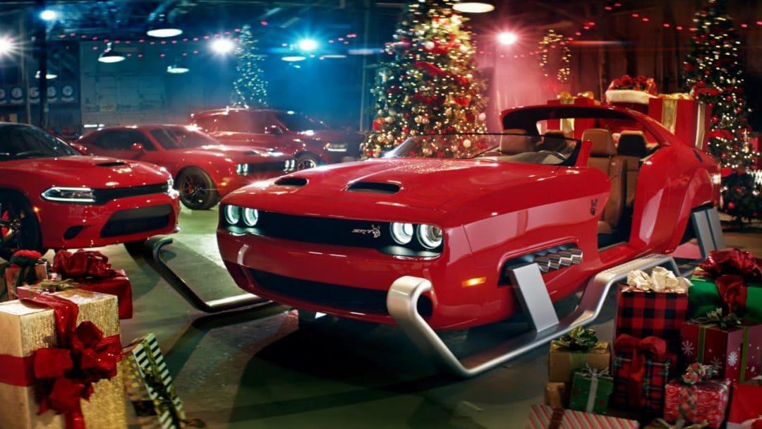 Dodge Hellcat Redeye de noël