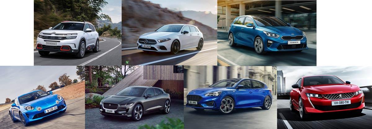 Les 7 finalistes pour la voiture de l'année 2019