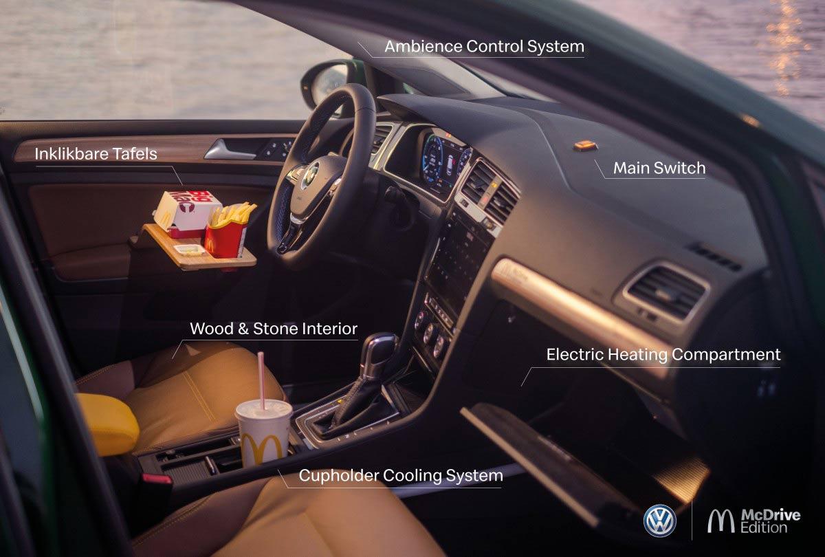 L'intérieur de la Golf McDrive Edition