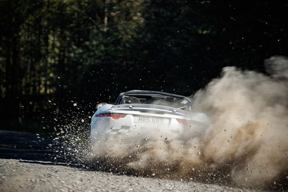 Jaguar F-Type rallye drift