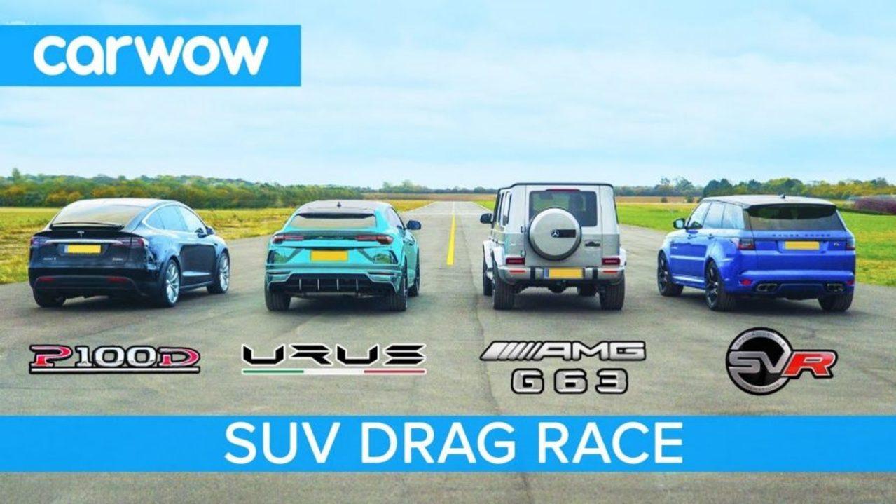 Drag Race Tesla Model X