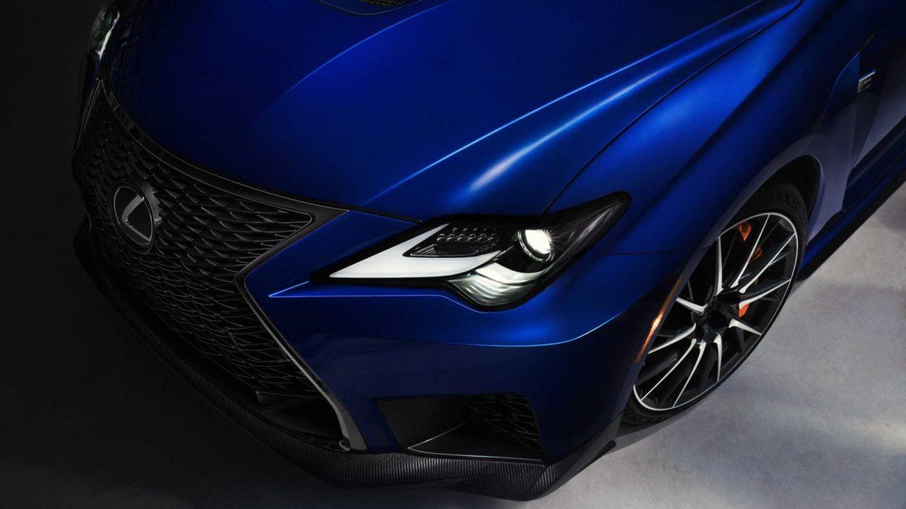 Face avant de la Nouvelle Lexus RC F (2019)
