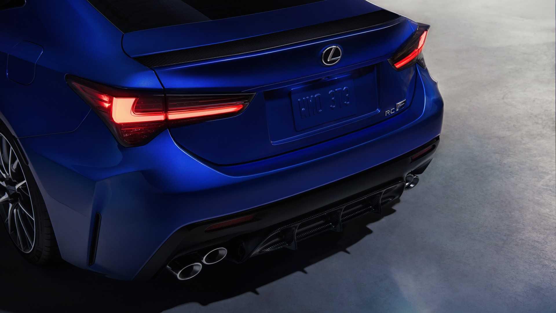Arrière de la Nouvelle Lexus RC F (2019)