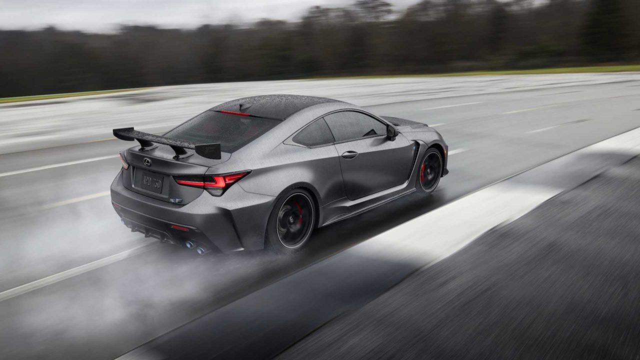Nouvelle Lexus RC F Track Edition (2019) sur circuit