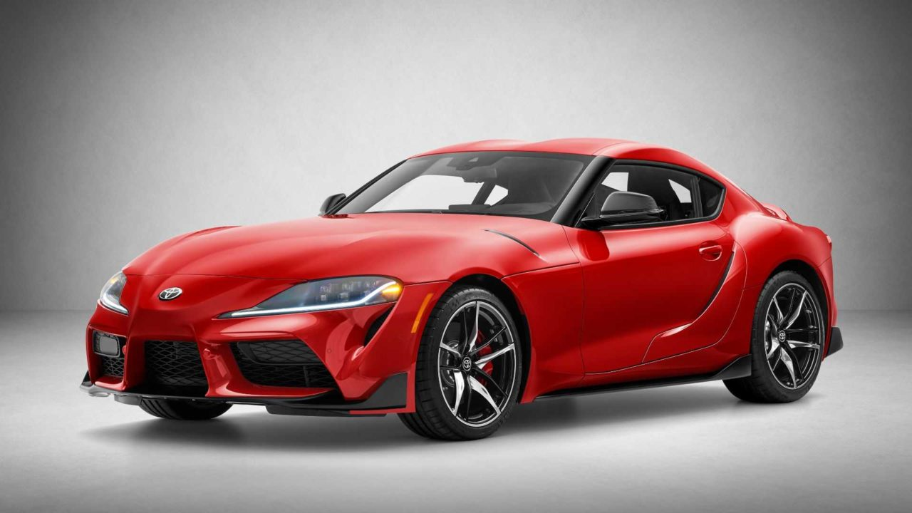 Toyota Supra (2019) rouge avant