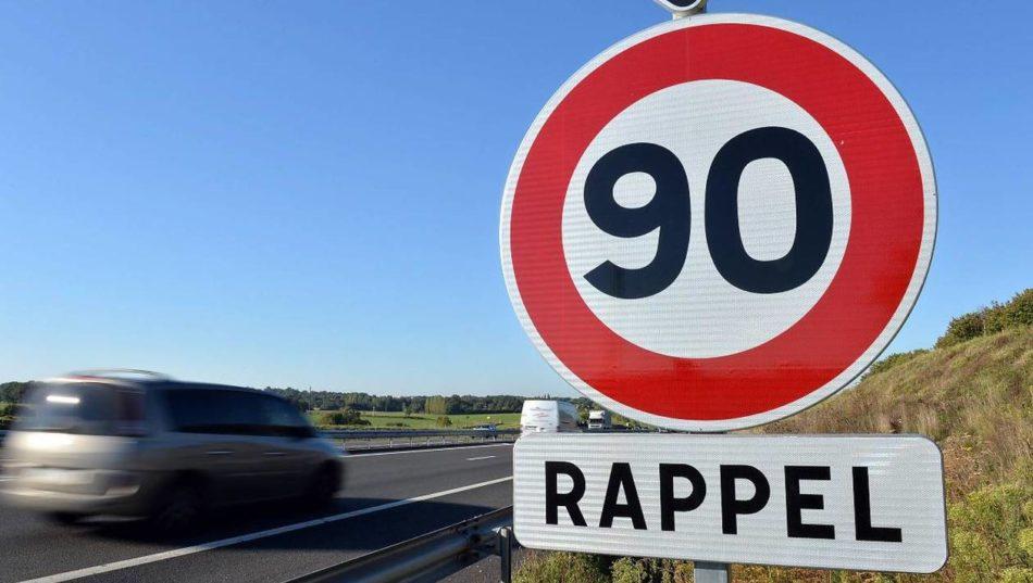 Panneau 90 km/h