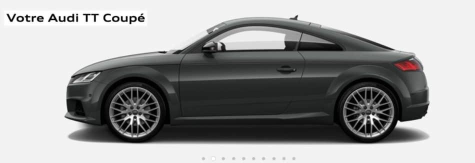 Audi TT restylée