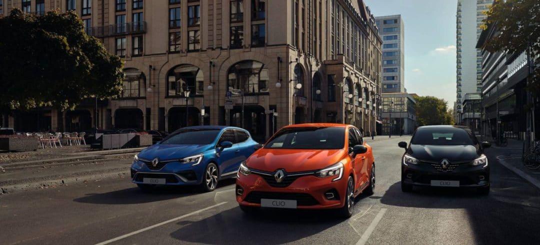 trois coloris de la Renault Clio 5 (2019)
